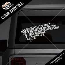 John 3 16 Bible Verse Christian Car Decal Sticker Religious For God Loved 3 16 Ebay