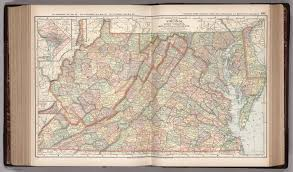 Map of Virginia, West Virginia, Maryland and Delaware. 101 - David Rumsey  Historical Map Collection