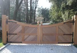 Gate Opener Wooden Driveway Gates