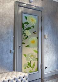 interior frosted glass door featuring