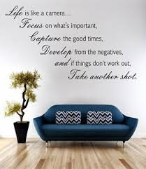 Life Is Like A Camera Wall Art Sticker Quote Decal Vinyl Transfer Ebay