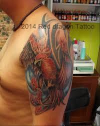 Fenix Tattoo Tatuaz Feniks Wojtekreddragon