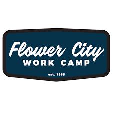 4 X 2 Logo Decal Navy White Flower City Work Camp