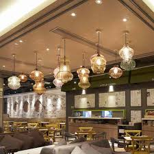 modern pendant lights in a restaurant