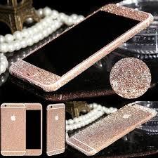For Iphone 7 4 7 Rose Gold Glitter Full Body Skin Decal Bling Sticker Walmart Com Walmart Com