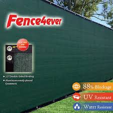 8 Tall X 50 8ft Green Fence Screen Cover Mesh Windscreen Privacy Outdoor W Zip Ebay