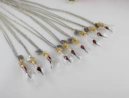 8mm small glass bottle vial necklace