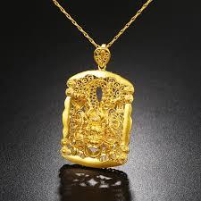 gold pendant necklace no fade brass