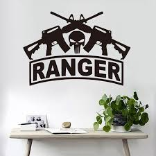 Modern Weapon Machine Gun Home Decorative Wall Sticker Ranger Poster For Kids Room Life Vinyl Wall Decal S209 Wall Stickers Aliexpress