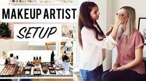 makeup artist kit setup you