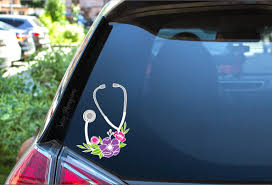 Floral Stethoscope Full Color Vinyl Decal Nurse Decal Etsy In 2020 Nurse Decals Vinyl Decals Doctor Gifts