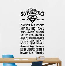 Superhero Rules Wall Decal Quote Sign Vinyl Sticker Poster Playroom Decor 166bar Ebay