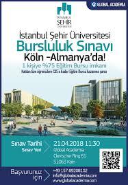 İstanbul Şehir Üniversitesi Bursluluk Sınavı Köln - Almanya ...