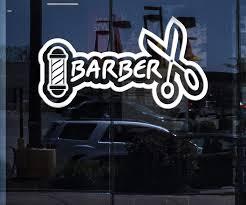Window Vinyl Decal Wall Sticker Barber Icon Barber Shop Salon Haircut Wallstickers4you