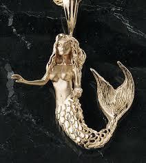 golden mermaid pendant 14k prestons