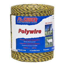 Fi Shock 1 320 Ft 6 Strand Polywire Pw1320y6 Fs The Home Depot