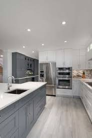 Pin by Geneva Sullivan on Unusual Rustic Interior (With images)   Grey  kitchen floor, Gray and white kitchen, Kitchen design