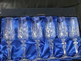 bohemia crystal champagne glasses