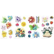 Roommates 5 In X 11 5 In Pokemon Iconic Peel And Stick Wall Decal Rmk2535scs The Home Depot