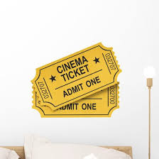 Cinema Ticket Movie Wall Decal Wallmonkeys Com