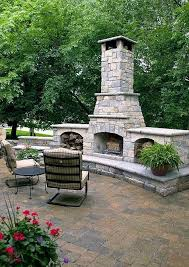 natural stone fireplaces outdoor