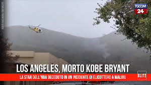 Tgcom24 - Basket, morto in un incidente di elicottero Kobe Bryant ...