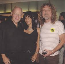 Fantastic Drowse — David Gilmour with wife Polly Samson and Robert...