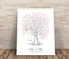 finger print trees wedding gift ideas