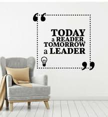 Vinyl Wall Decal Reading Room Decor Inspiring Quote Words Stickers Mural G1309 Ebay