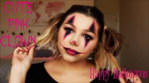 cute pink clown makeup tutorial you