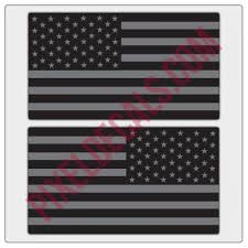 American Flag Decals Black Gray Tactical