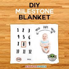 Diy Milestone Blanket For Baby How To Layer Iron On Vinyl Jennifer Maker