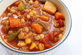 slow cooker chunky bean vegetable soup
