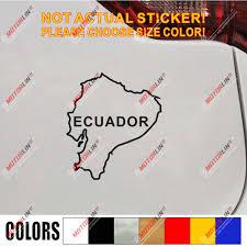 Ecuador Map Outline Silhouette Decal Sticker Car Vinyl Die Cut No Bkgrd Car Stickers Aliexpress