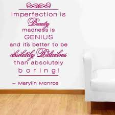 Imperfection Is Beauty Wall Decal Style And Apply