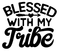 Blessed With My Tribe Decal Mud And Lace Apparel