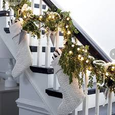 staircase decorations for christmas