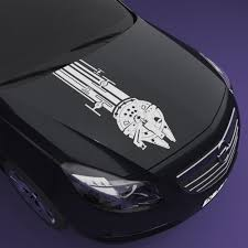 Millennium Falcon Decal With Tie Fighters On The Tail Nerdecal