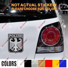 Germany Polizei Coat Of Arms German Eagle Decal Sticker Car Vinyl Deutschland B Car Stickers Aliexpress