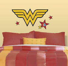 Classic Wonder Woman Logo Peel And Stick Giant Wall Decals Walldecals Com