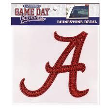 Alabama Crimson Tide Rhinestone Bling Window Decal Sticker My Team Depot