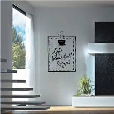 Life Is Beautiful Enjoy It Kitchen Quote Wall Decal Vinyl Decal Car Decal Vd041 36 Inches Walmart Com Walmart Com
