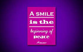 تحميل خلفيات 4k الابتسامة هي بداية السلام ونقلت عن السلام الأم