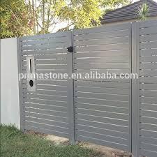 Modern Aluminum Slat Privacy Fences And Gates Design Buy Aluminum Slat Fence Aluminum Fence And Gate Degin Privacy Fence And Gate Product On Alibaba Com