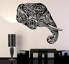 Vinyl Wall Decal Abstract Africa Continent Map African Animals Stickers 2859ig
