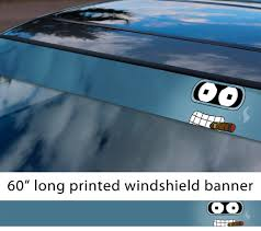Buy 60 Bender Robot Shiny Ass Sun Strip Printed Windshield Car Vinyl Sticker Decal