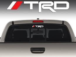 Product 1 Trd Sticker Decal Windshield Rear Mirror Window Toyota Tacoma Corolla Tundra L