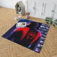 Spider Man Into The Spider Verse Movie Miles Morales Marvel Comics Bedroom Living Room Floor Carpet Rug Ebeddingsets