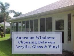 sunroom windows choosing between