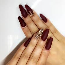 burgundy nail designs for women 2019
